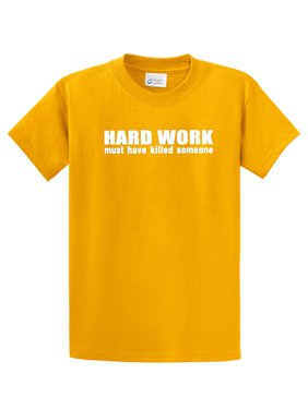 Funny T-Shirt Hard Work Must Have Killed Someone-purple-small