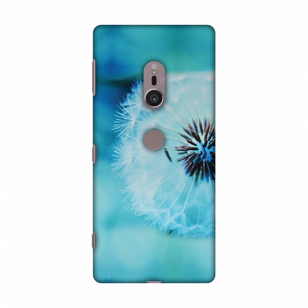 Sony Xperia XZ2 Case - Dandelion Close By, Hard Plastic Back Cover, Slim Profile Cute Printed Designer Snap on Case with Screen Cleaning Kit