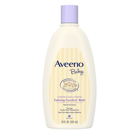 Aveeno Baby Calming Comfort Tear-Free Bath, Hypoallergenic, 18 fl.