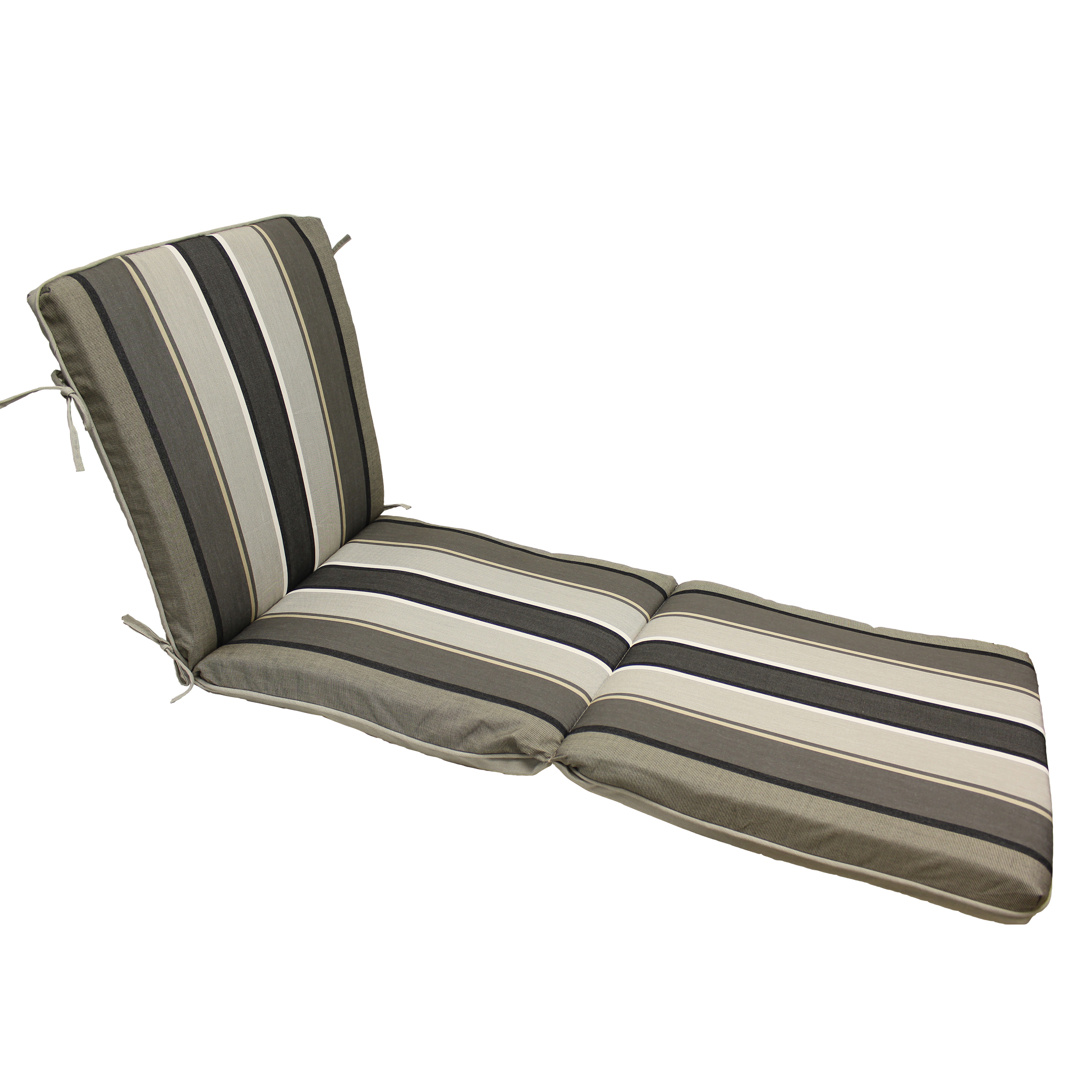 Better Homes and Gardens Linen Rev to Stripe Chaise Lounge Cushion
