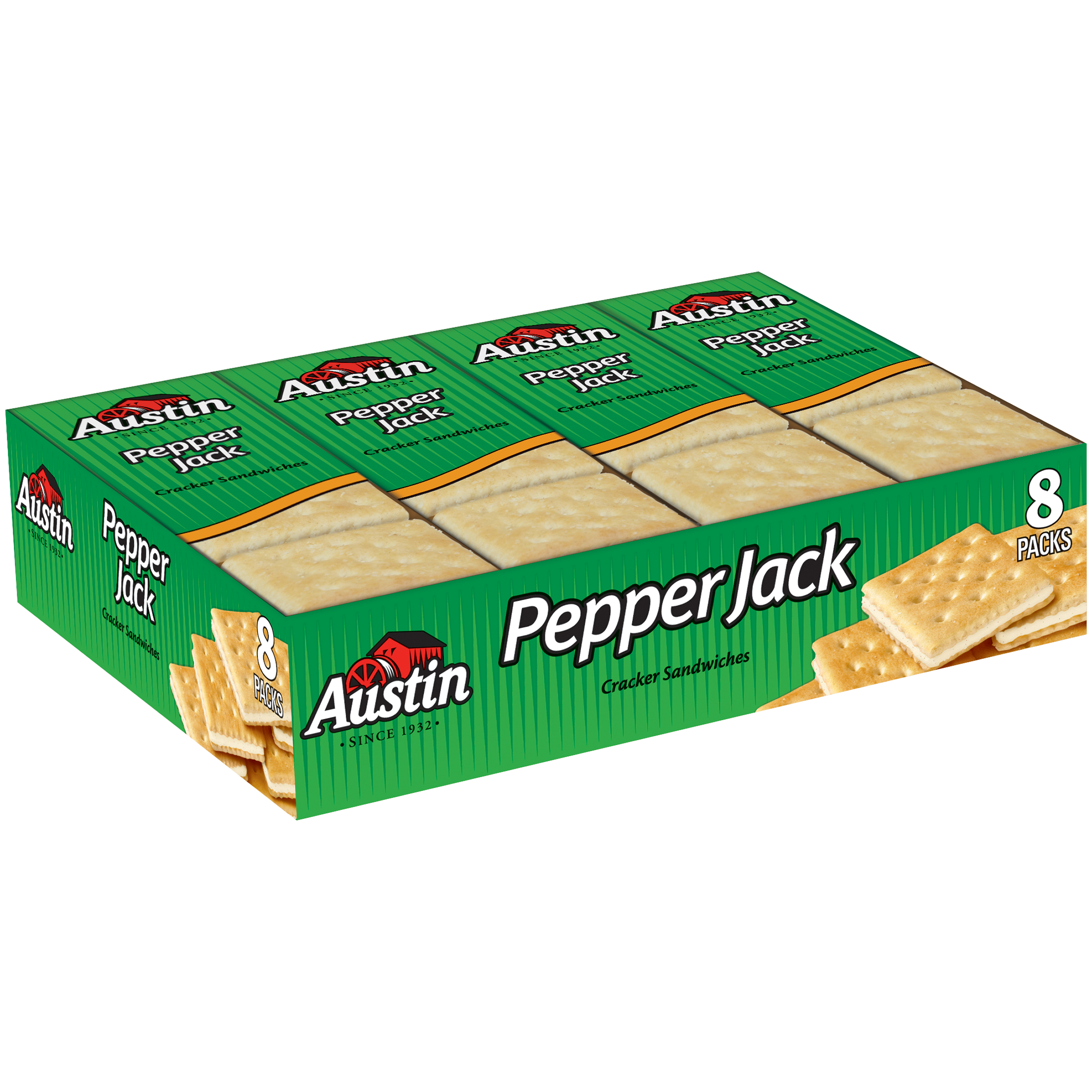 Austin�� Pepper Jack Cracker Sandwiches 8-1.38 oz. Packs