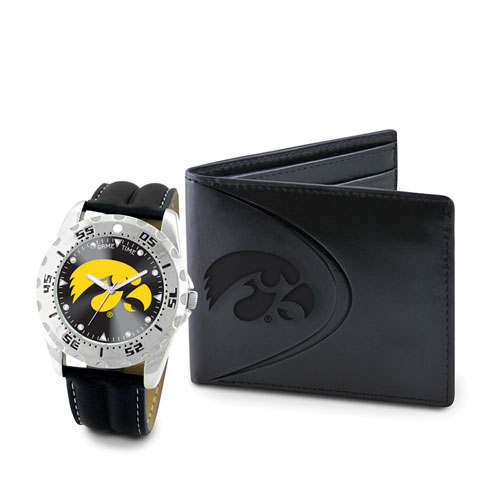 Iowa Watch and Wallet Gift Set