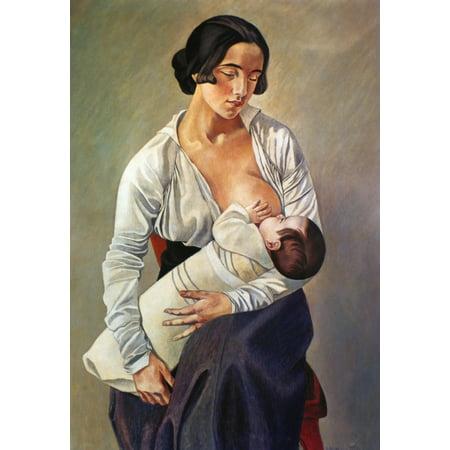 Pregnancy Art (Severini Maternity 1916 Ngino Severini Maternity Oil On Canvas 1916 Rolled Canvas Art -  (24 x 36))