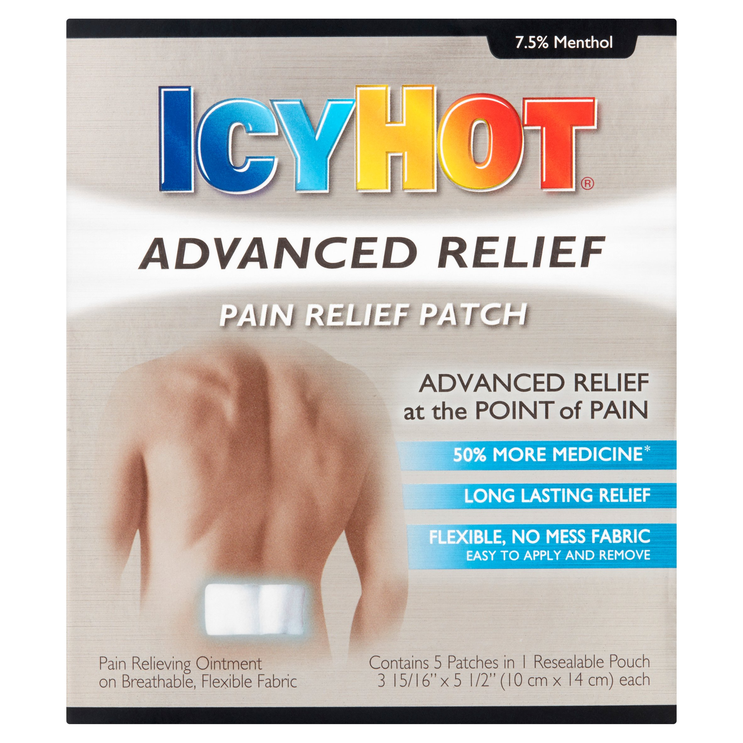 Icy Hot Advanced Relief Pain Relief Patches, 4 ct