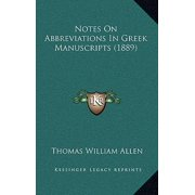 Notes on Abbreviations in Greek Manuscripts (1889)
