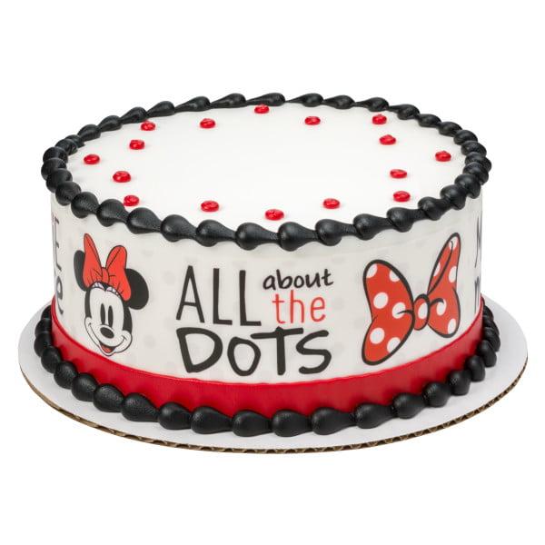 Vintage Minnie Mouse Designer Strips Edible Cake Border Design