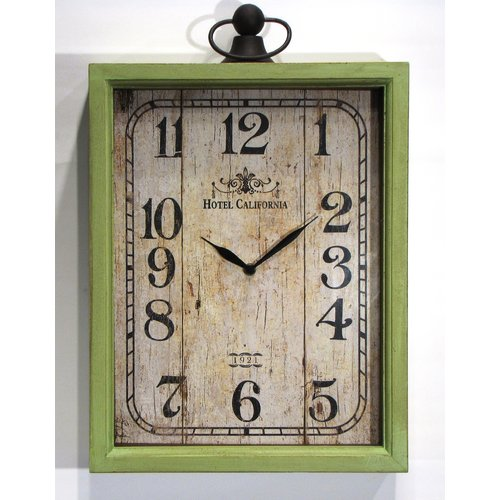 Wilco Home Hotel California Table Clock