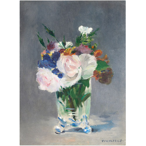 """Trademark Fine Art """"Flowers In a Crystal Vase"""" 1882 Canvas Art by Edouard Manet"""