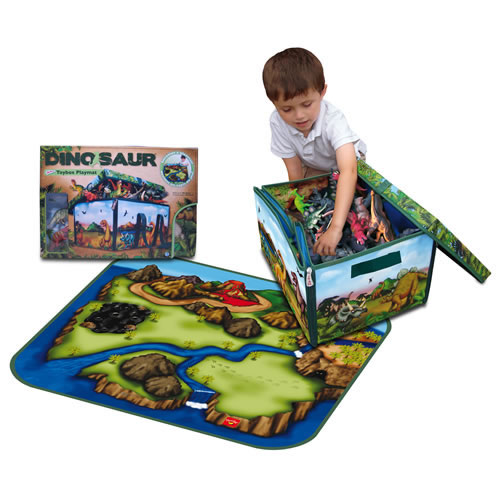 ZipBin Dinosaur Collector Toy Box & Playset