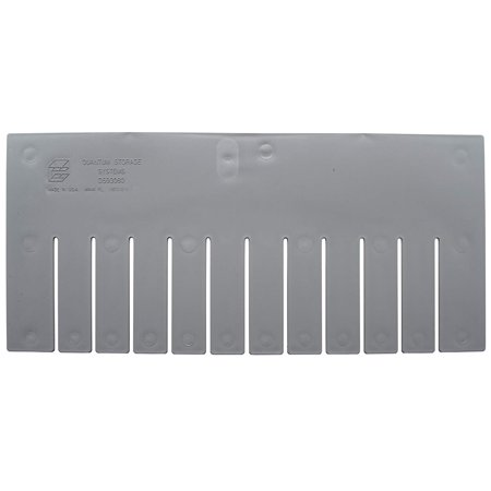 Quantum Storage Systems DL93080 Long Divider for Dividable Grid Container DG93080, Gray, 6-Pack