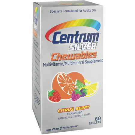 - Centrum Silver Adult 50+ Multivitamin Chewables, 60 ct, 3 pack