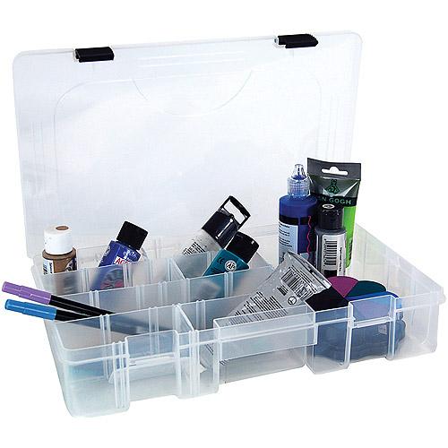 Creative Option Pro Latch Utility Box, Clear W/Black Latch, 6-21 Compartments