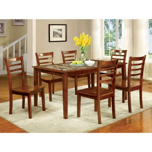 Red Barrel Studio Harned Wooden 7 Piece Counter Height Dining Table Set