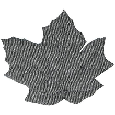 Eerie Boneyard Halloween Party Black Leaves Cut Out Table Decoration, Fabric, 2