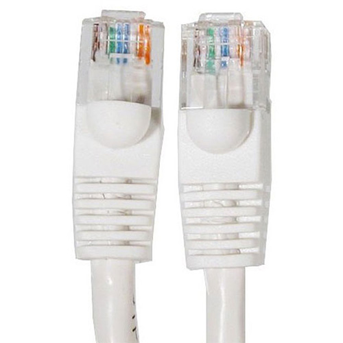 2' Ft Cat5e 350MHz RJ45 Cable White 2 Foot Ethernet Network UTP LAN Patch Cat5