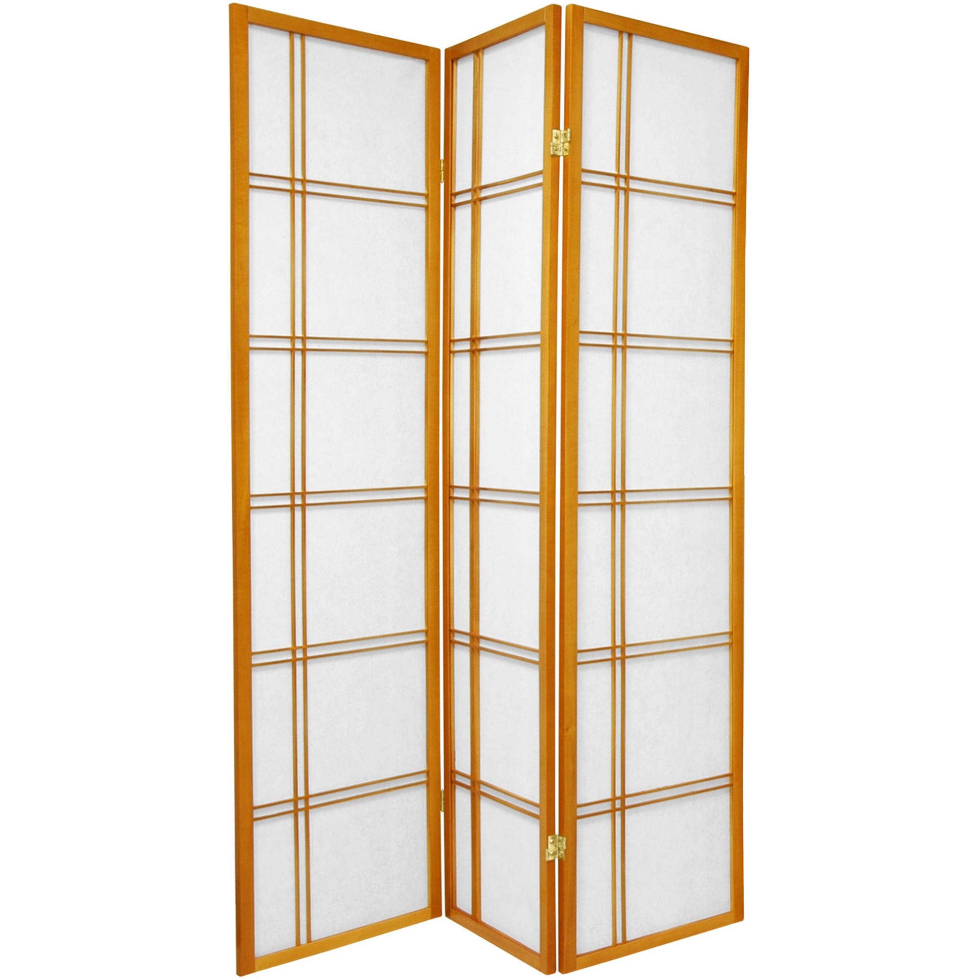 6u0027 tall double cross shoji screen