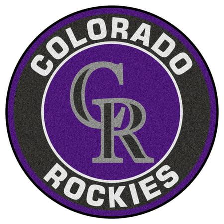 """MLB - Colorado Rockies Roundel Mat 27"""" diameter"""