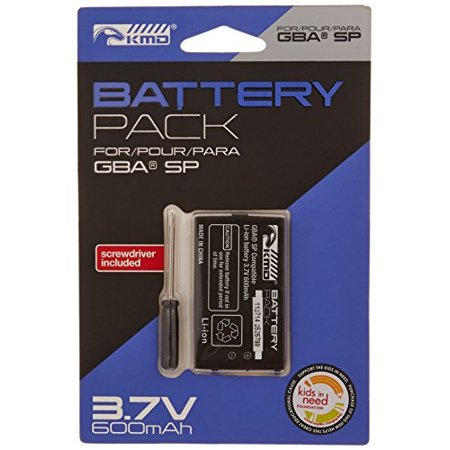 kmd gba sp replacement lithium ion battery with screwdriver - game boy advance; Game Boy Colored Battery
