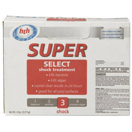 HTH Super Premium Shock Treatment, 1 lb, 5-Pack