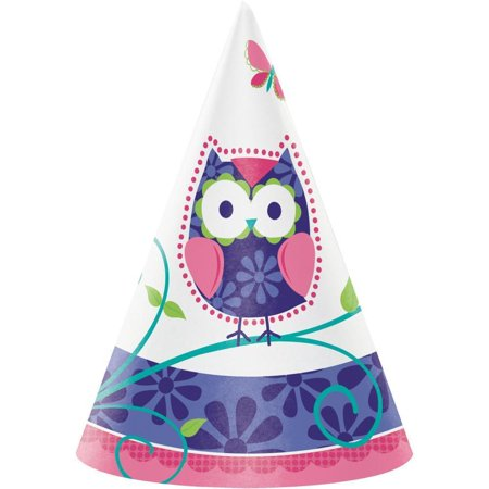 Owl Pal Birthday Paper Party Hats, Child Size, 8 ct](Owl Birthday Party)