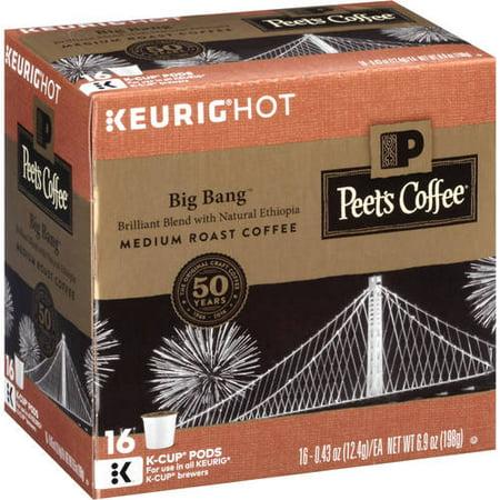 Keurig Hot Peets Coffee Big Bang Medium Roast Coffee  0 43 Oz  16 Count