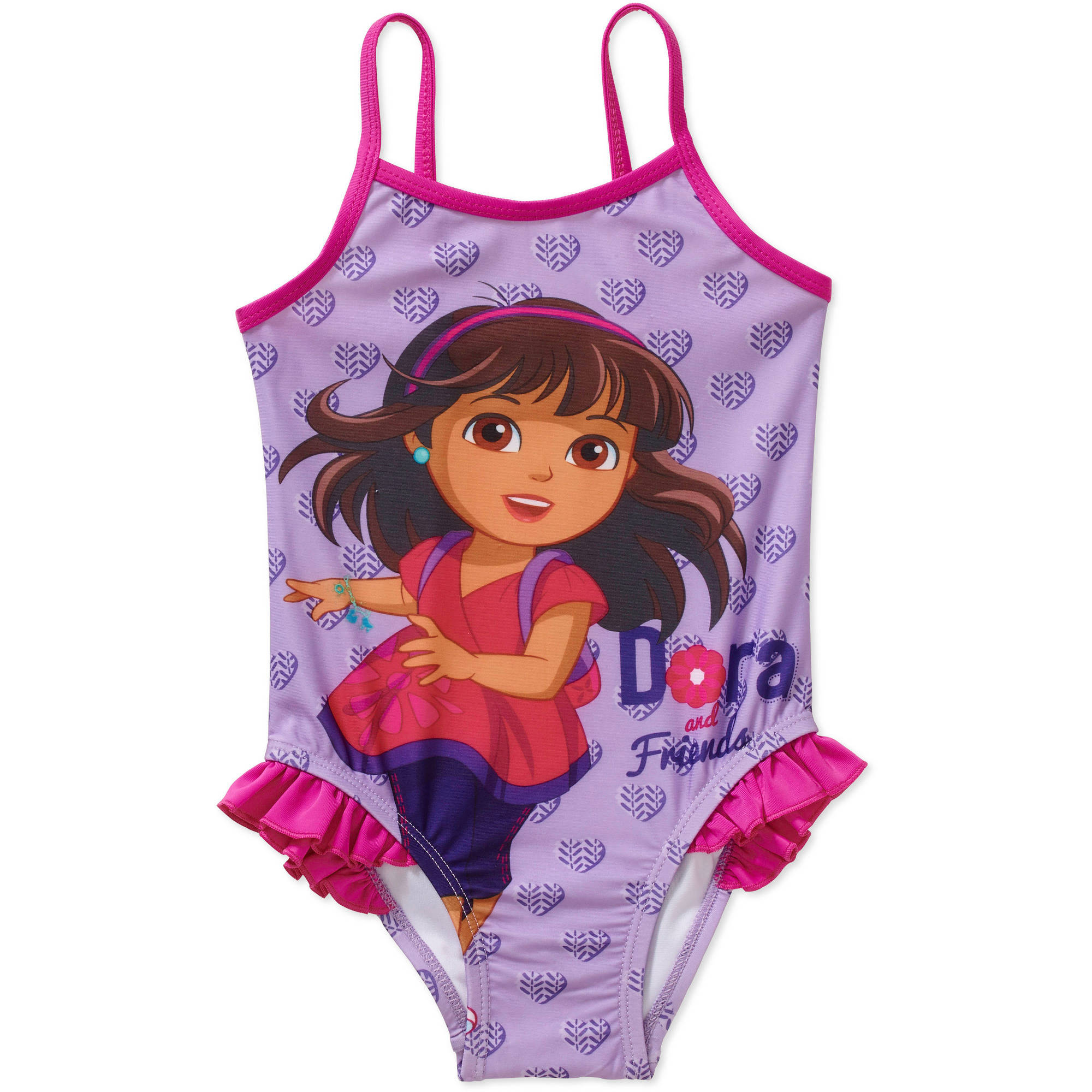 Dora the Explorer and Friends Toddler Girl 1-Piece Swimsuit