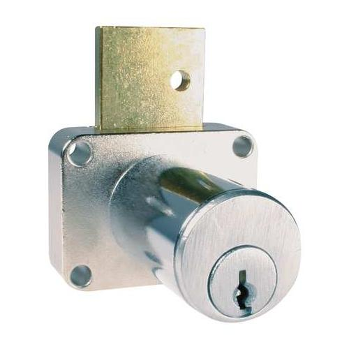 COMPX NATIONAL C8179-KD-26D PinCamDrawerLock,DullChrome,13/8InCyl,KD