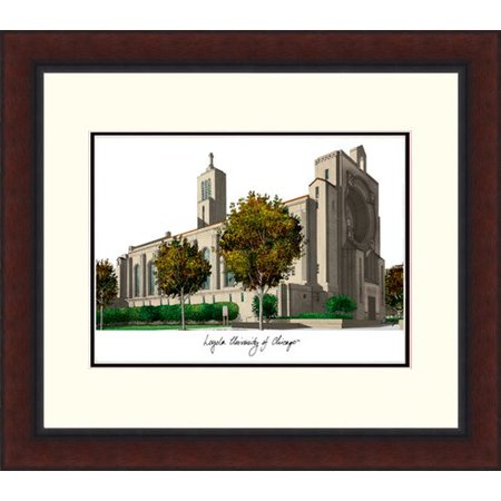 Loyola University Chicago Legacy Alumnus Framed Lithograph