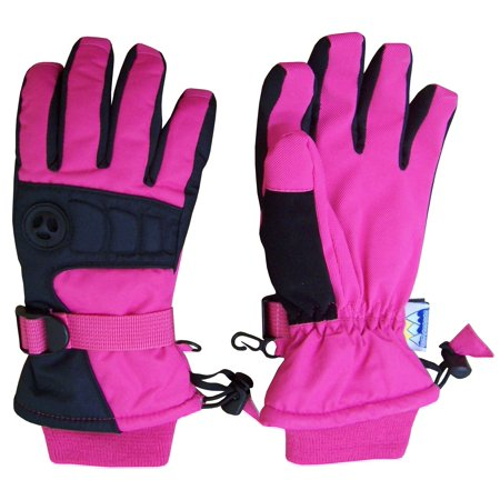 NICE CAPS Womens Ladies Extreme Cold Weather 80 Gram Thinsulate Winter Premier Waterproof Colorblock Ski Snow Snowboarder Glove with Air Hole - 70 And 80 Clothes