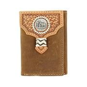 Nocona Western Wallet Mens Trifold Cowboy Prayer Brown N5454444