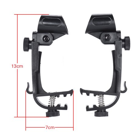 2pcs Clamp Clip On Drum Rim Microphone Mic Mount Holder Adjustable