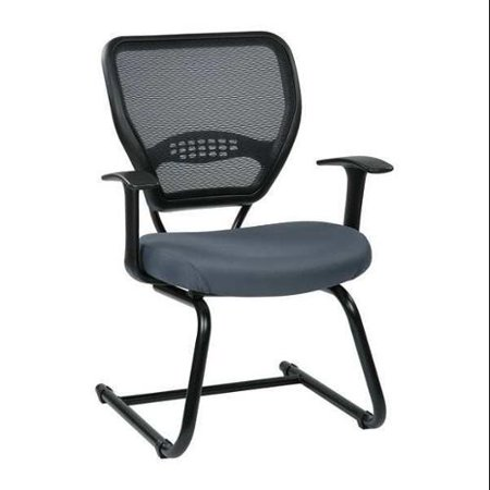 OFFICE STAR 55-7V30-226 Chair, Visitor, Fabric/Metal, Gray
