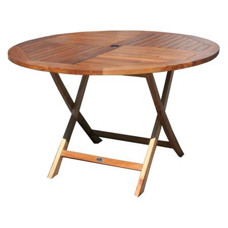 Chic Teak Java Folding Round Patio Dining Table
