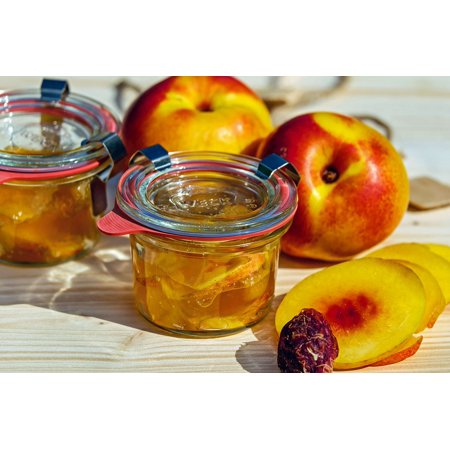 Summer Jam - LAMINATED POSTER Stone Fruit Nectarine Summer Cook Jam Preparation Poster Print 11 x 17