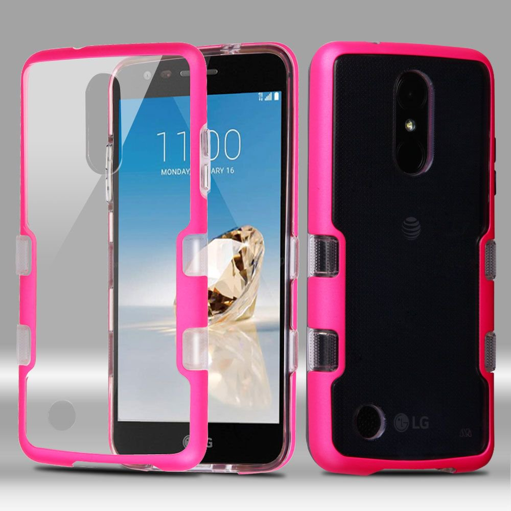 newest 1c052 6003d LG Aristo phone case, LG K8 2017 case, LG K4 case, LG Phoenix 3 case, by  Insten Transparent TUFF Panoview Hybrid Case For LG Aristo / Fortune / K4  ...