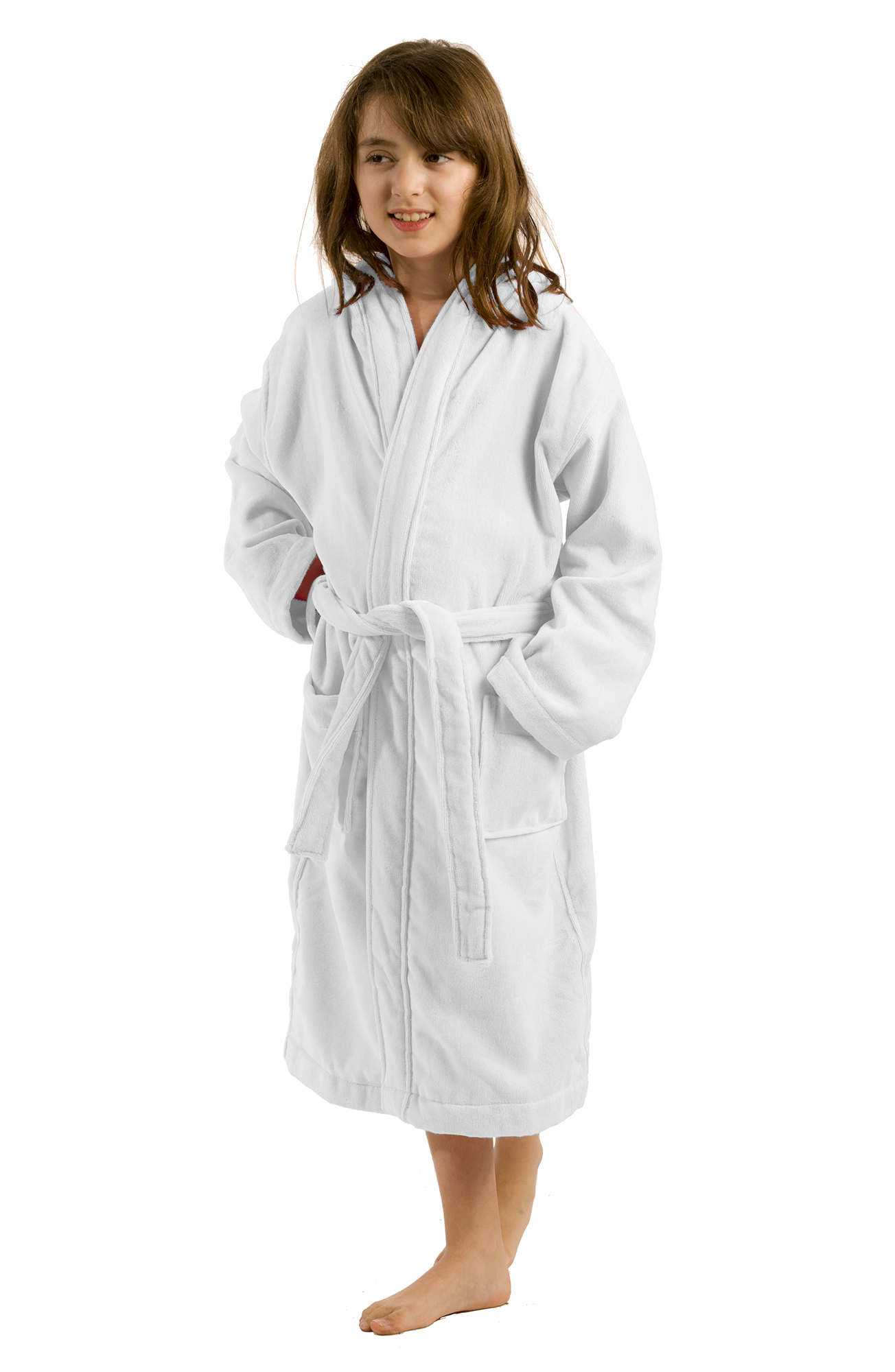 Black Robe BY LORA Terry Hooded Bathrobe for Boys and Teenagers Size Small
