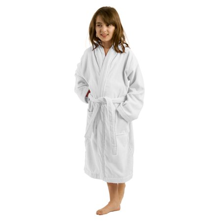 61823e36ef byLora - Hooded Kids bathrobes Terry boys and Girls bathrobes White ...