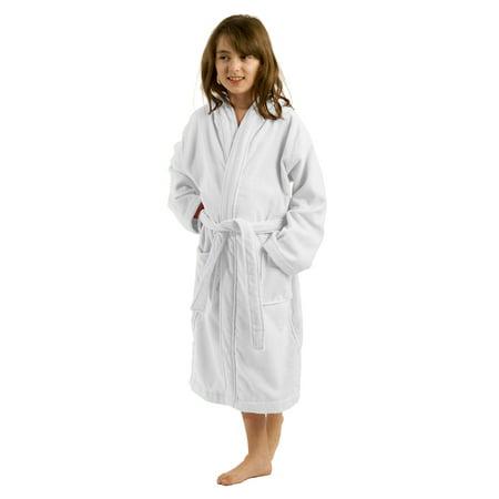 f3c682d120 byLora - Hooded Kids bathrobes Terry boys and Girls bathrobes White ...