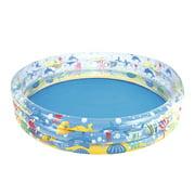 HALLOLURE Inflatable Kiddie Pool, Beach Ocean 3 Ring Summer Game Fun Swimming Pool for Kids, Water Pool Baby Pool for Summer Water Fun, 60 inches, for Ages 3+