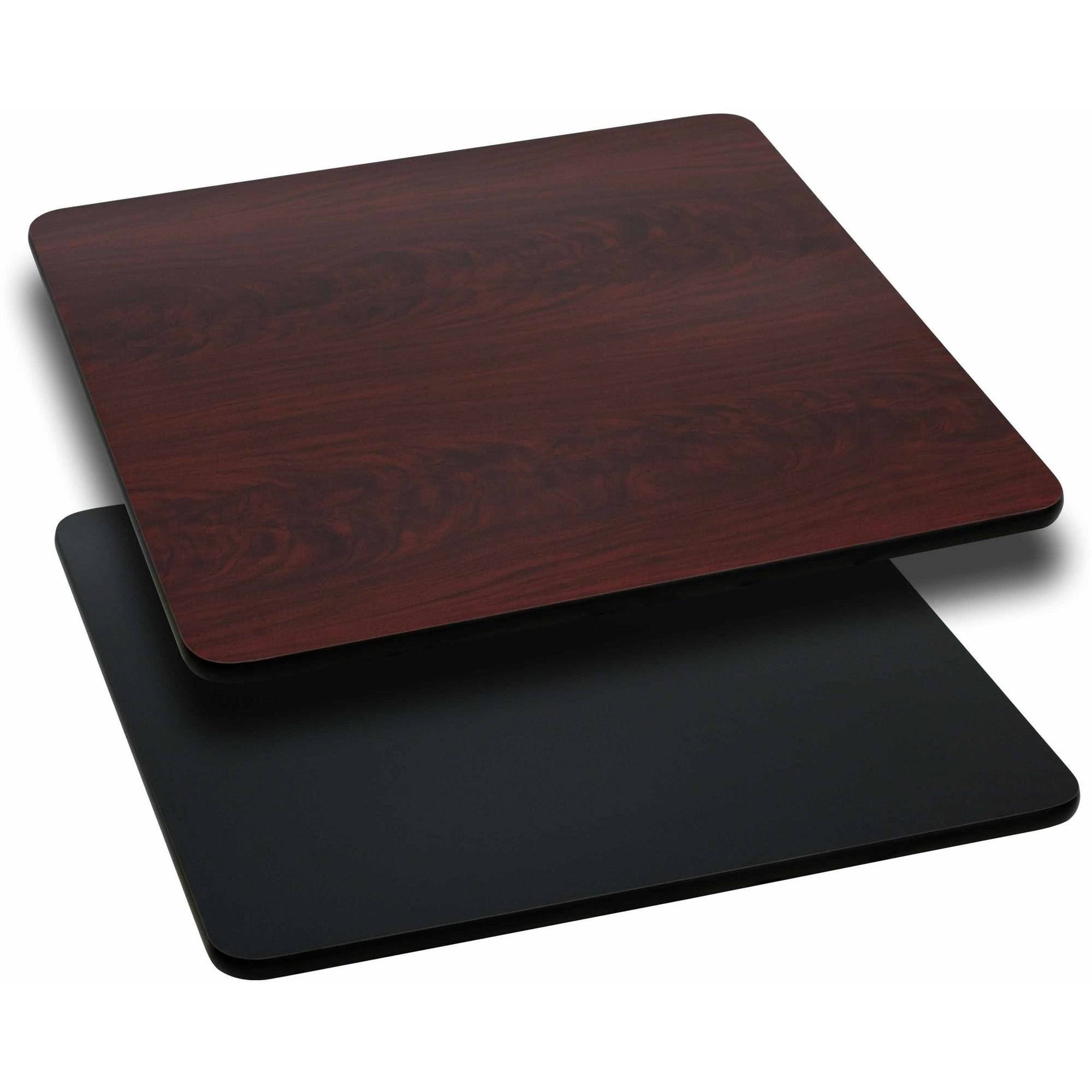 """Flash Furniture 2-Pack 42"""" Square Table Top with Reversible Laminate Top, Multiple Colors"""