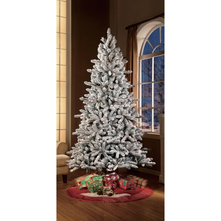 Holiday Time Pre Lit 7 5' Green Flocked Birmingham Fir Artificial  - Fix Christmas Tree Lights On A Pre Lit