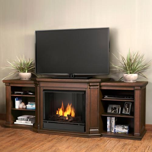 Real Flame  Valmont Chestnut Oak 75.5 in. L x 21.5 in. D x 27.7 in.