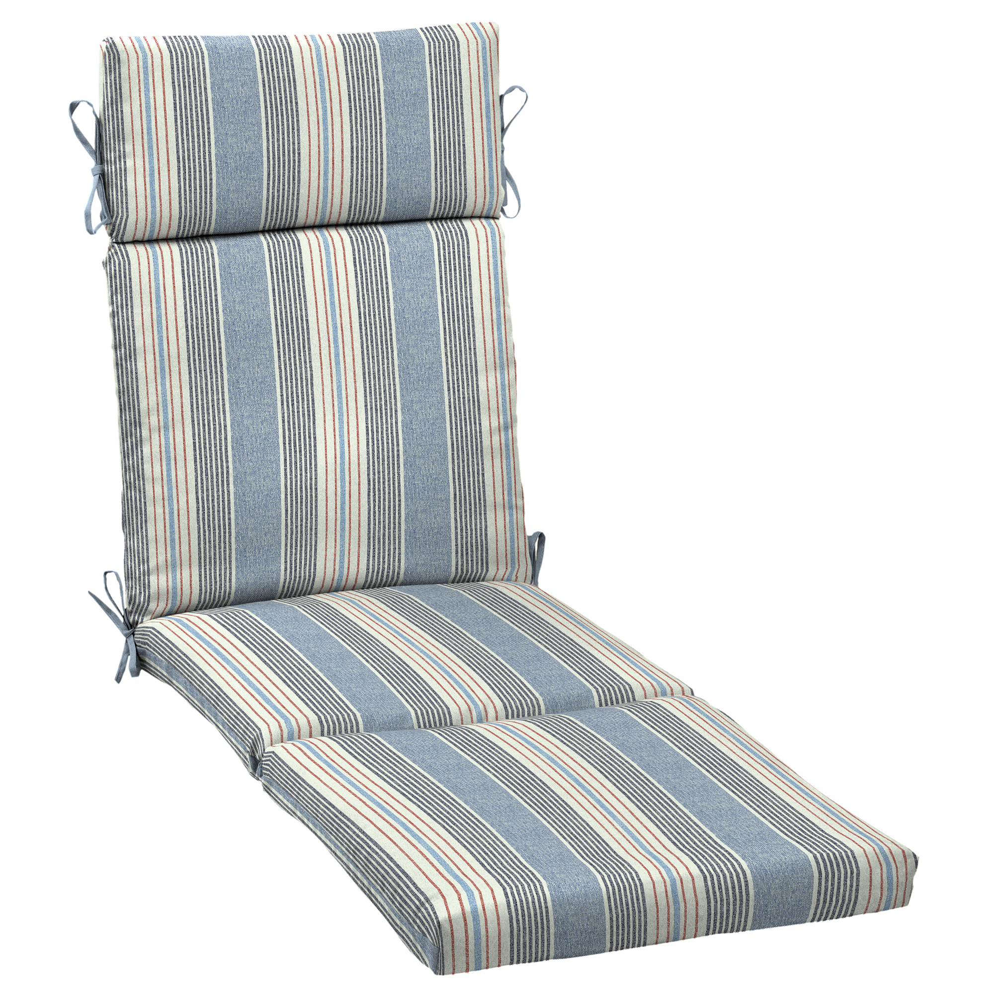 Better Homes & Gardens Hickory Stripe 72x 21 in. Outdoor Chaise Lounge Cushion with EnviroGuard