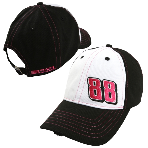 Dale Earnhardt Jr. Chase Authentics Breast Cancer Awareness Adjustable Hat - Black/White - OSFA