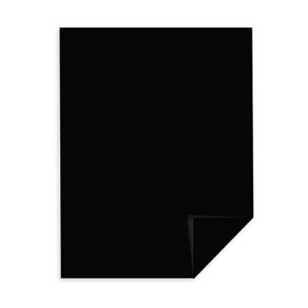 Eclipse Black Color Card Stock Paper, 65lb. 8.5 X 11 Inches - 50 Sheets