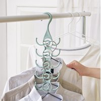 FAGINEY Clothing Hanger Rack Closet Organizer for Ties Belts, Belts Hanger, Clothing Hanger