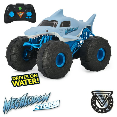 Monster Jam Official Megalodon Storm All-Terrain Remote Control Monster Truck - 1:15 Scale