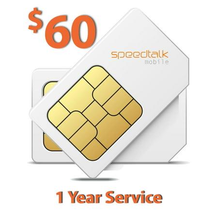 $60 Prepaid SIM Card for GSM GPS Tracker Pet Senior Kid Child Car Smart