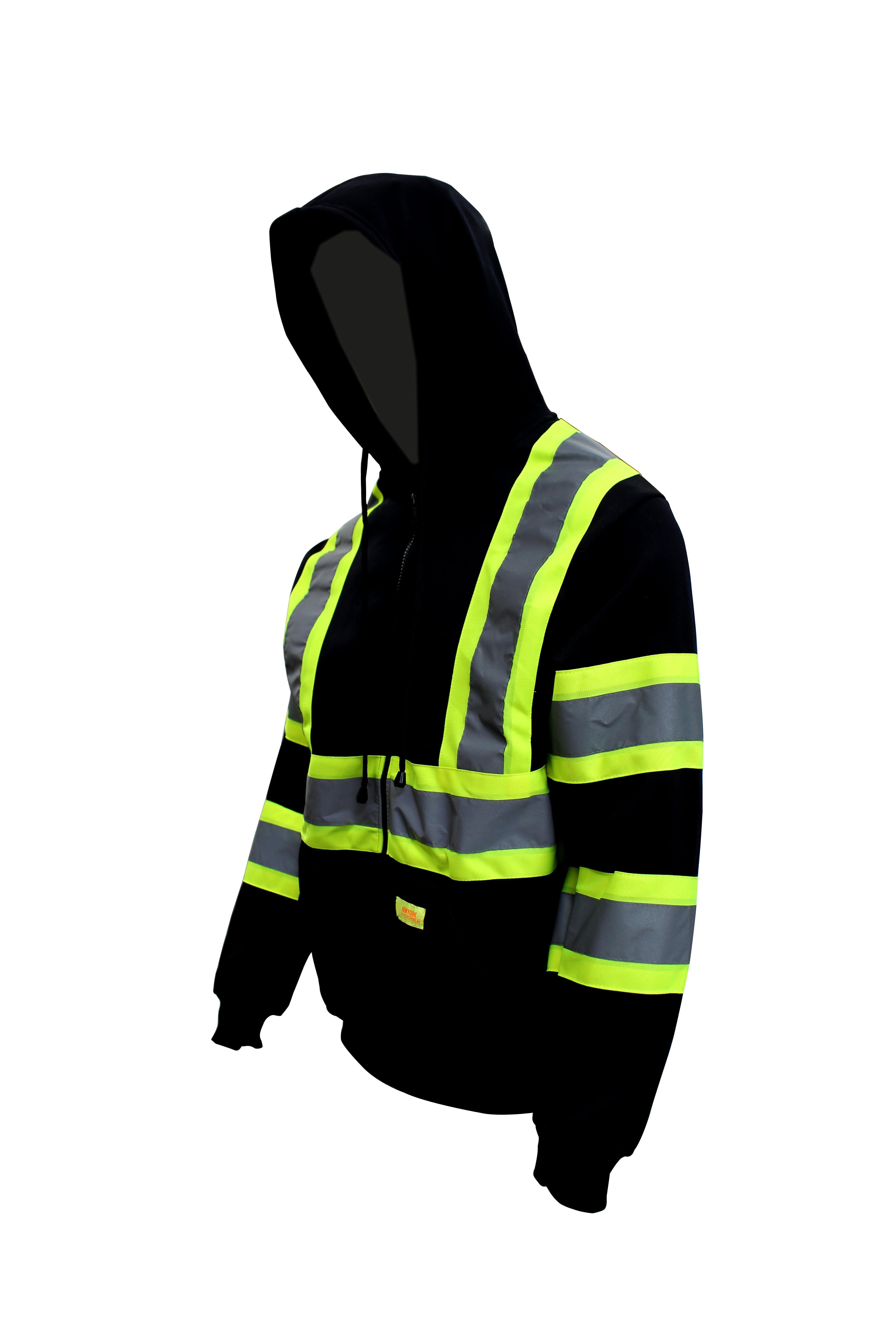 High Visibility Men Reflective Jacket Hoodie Sweatshirt Coat Casual Pants Bottom