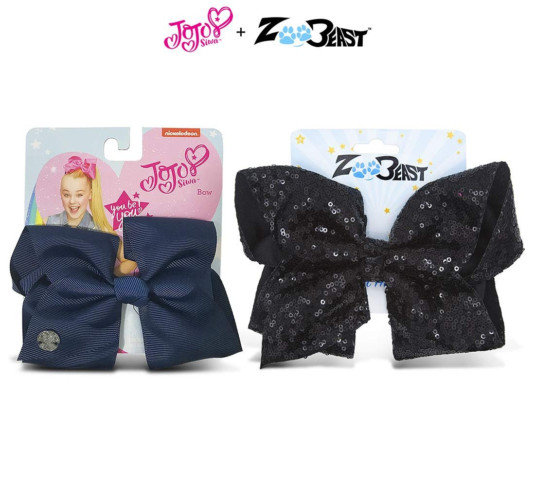 Baby shark X1 Large beautiful fabric hair bow with an alligator clip
